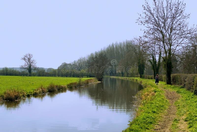 Stratford sul warw del canale del avon immagini stock libere da diritti