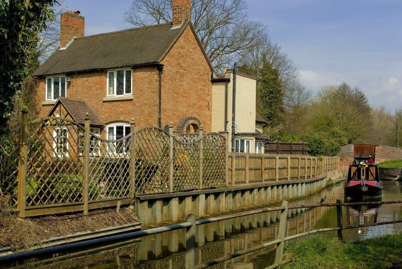 Stratford sul warw del canale del avon fotografia stock libera da diritti