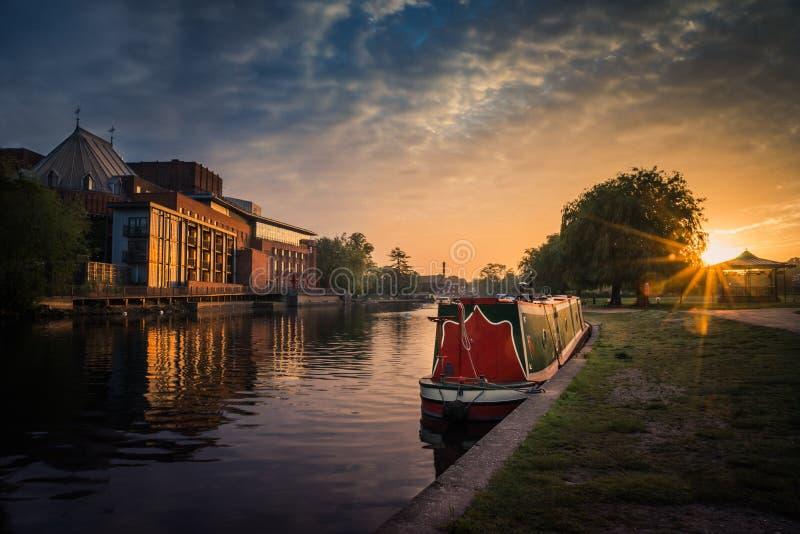 Stratford sur la rivière d'Avon photos stock