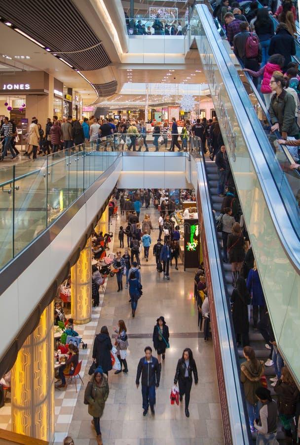 Stratford village shopping centre, London royalty free stock image