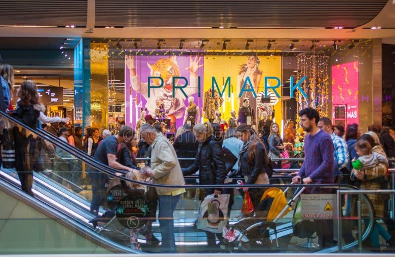 Stratford village shopping centre, London stock images