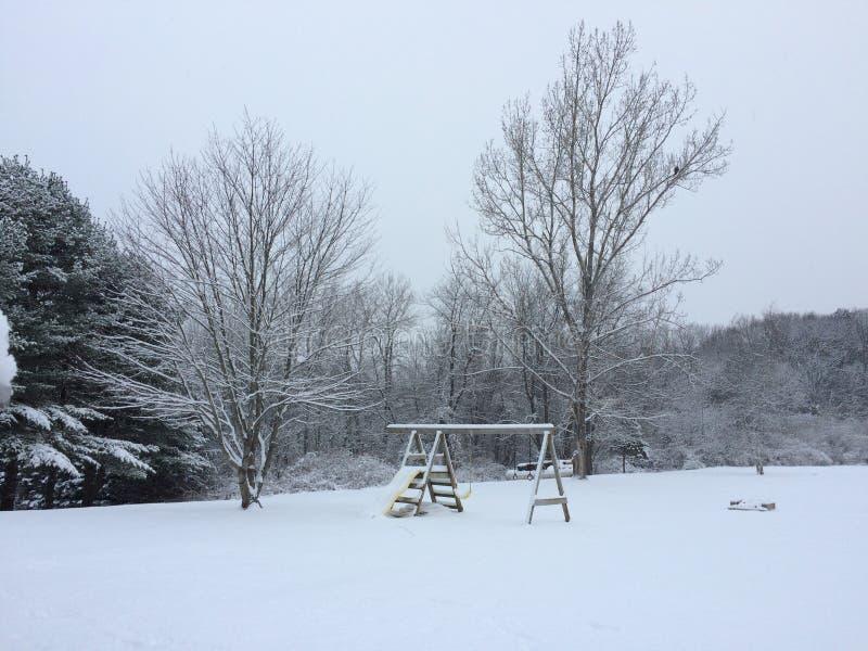 Stratham Snowday stockfotos