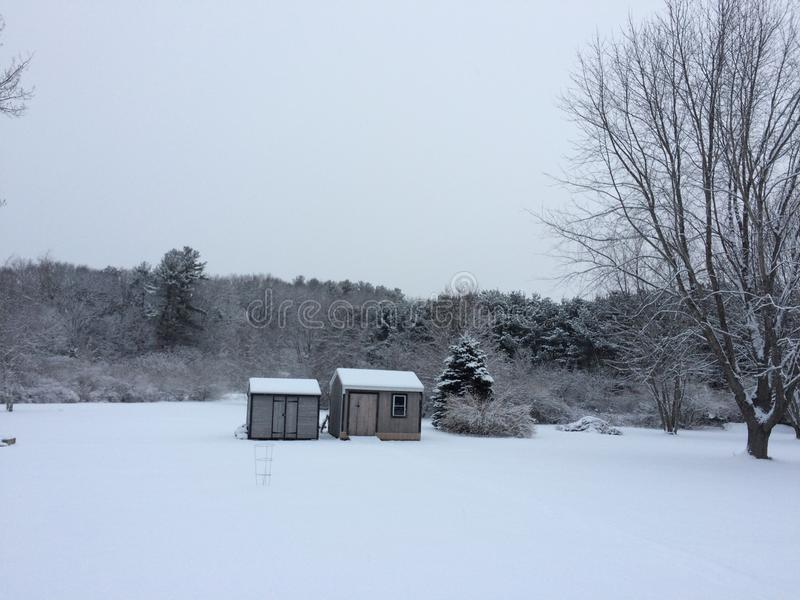 Stratham Snowday lizenzfreies stockfoto