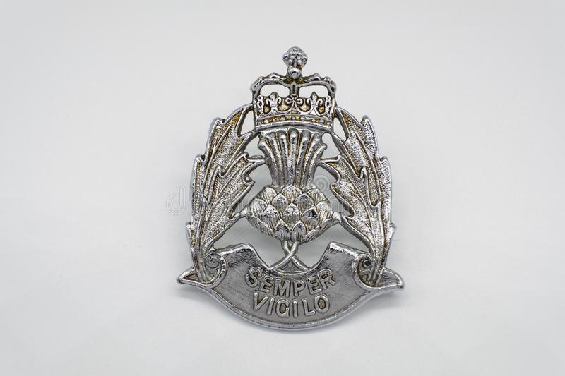 Strathclyde Police Cap Badge. royalty free stock images
