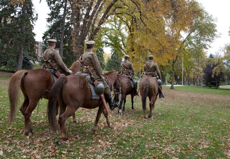 Strathcona在埃德蒙顿登上了马队伍 库存图片