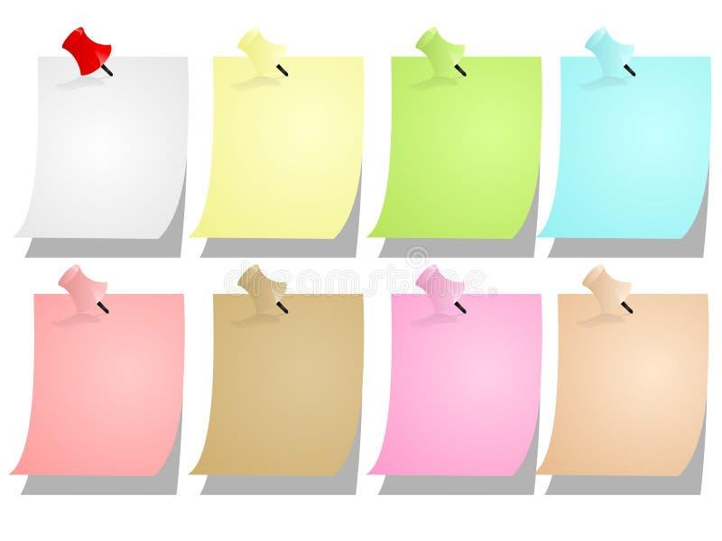Strati in bianco del blocchetto per appunti illustrazione di stock