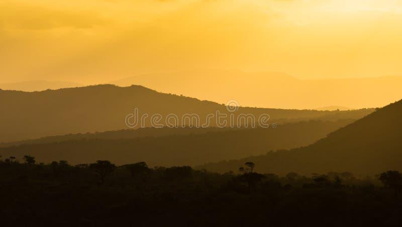 Strati colourful africani di tramonto fotografia stock
