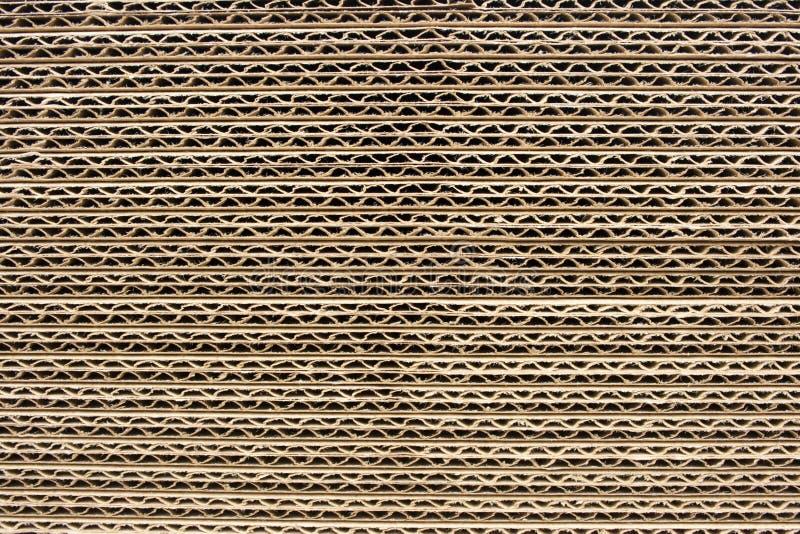Strati del cartone ondulato immagine stock