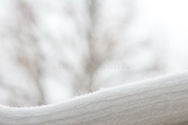 Strati della neve fotografia stock