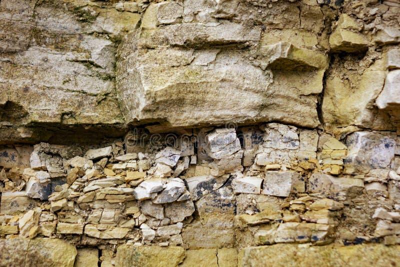 Strati della roccia sedimentaria dell'arenaria immagini stock libere da diritti