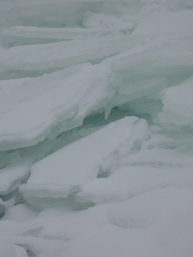 Strati di ghiaccio fotografia stock