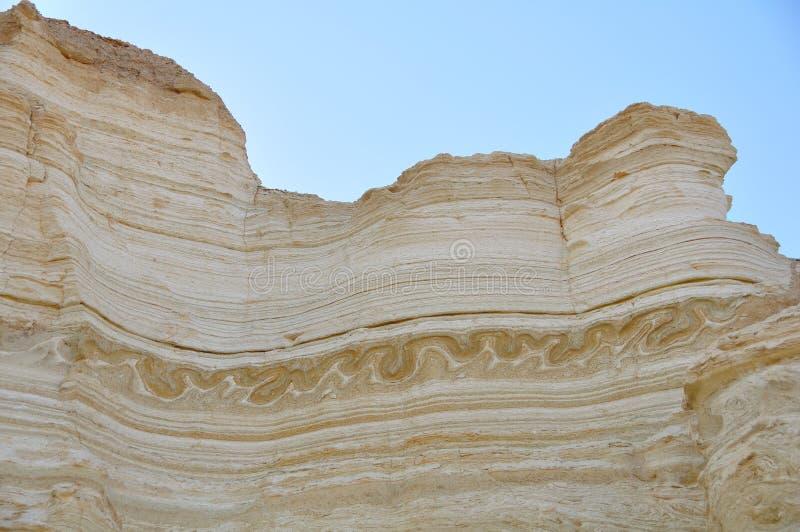 Strati di terremoto di geologia, Israele fotografia stock libera da diritti