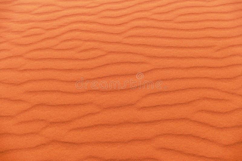 Strati rossi della duna di sabbia in Wadi Rum Desert, Giordania fotografie stock