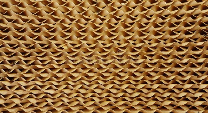 Strati strutturati della carta di Corrulgated. fotografia stock
