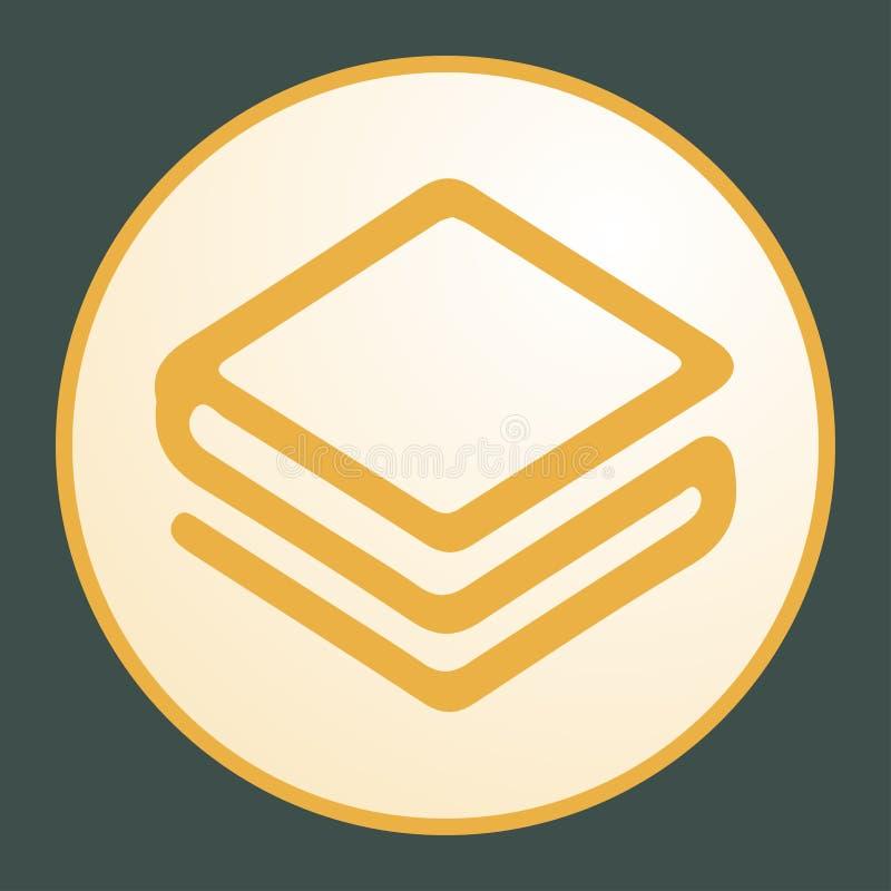 Stratis standart icon for internet money. royalty free illustration