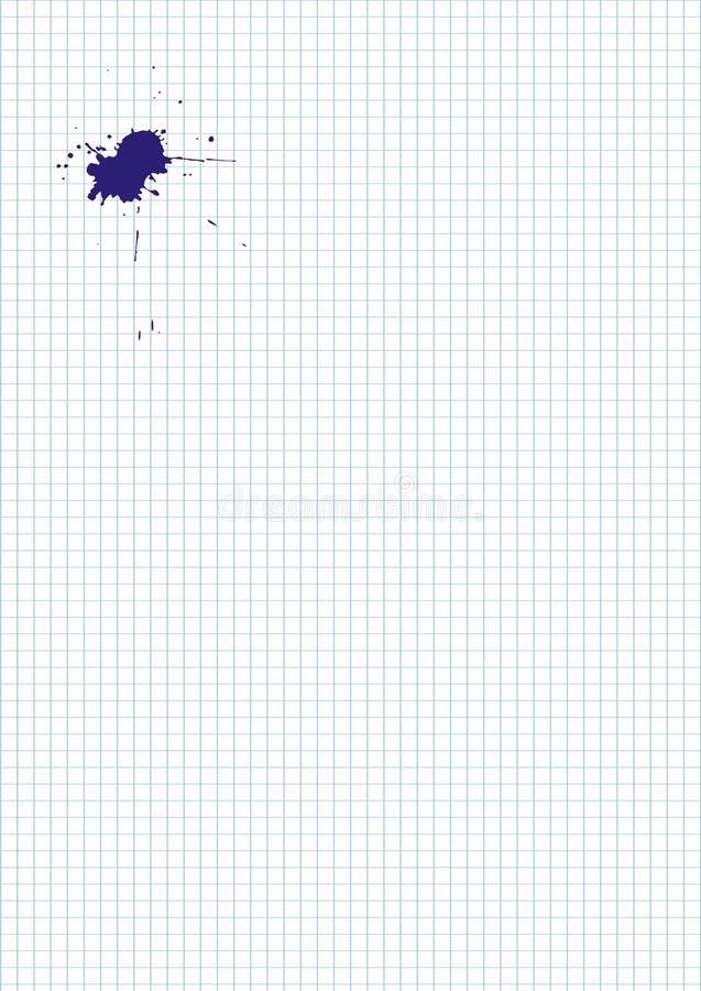 Download Strato In Bianco Con La Macchia Dell'inchiostro Illustrazione Vettoriale - Illustrazione di punto, vettore: 7310927