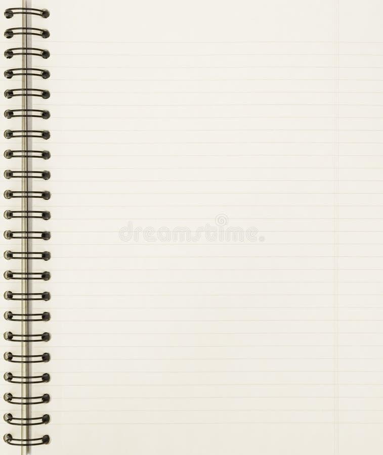 Strato in bianco del taccuino fotografie stock libere da diritti