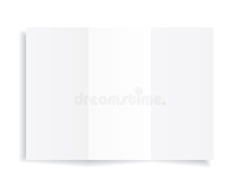 Strato in bianco A4 di Libro Bianco con ombra, modello per la vostra progettazione insieme Illustrazione di vettore royalty illustrazione gratis