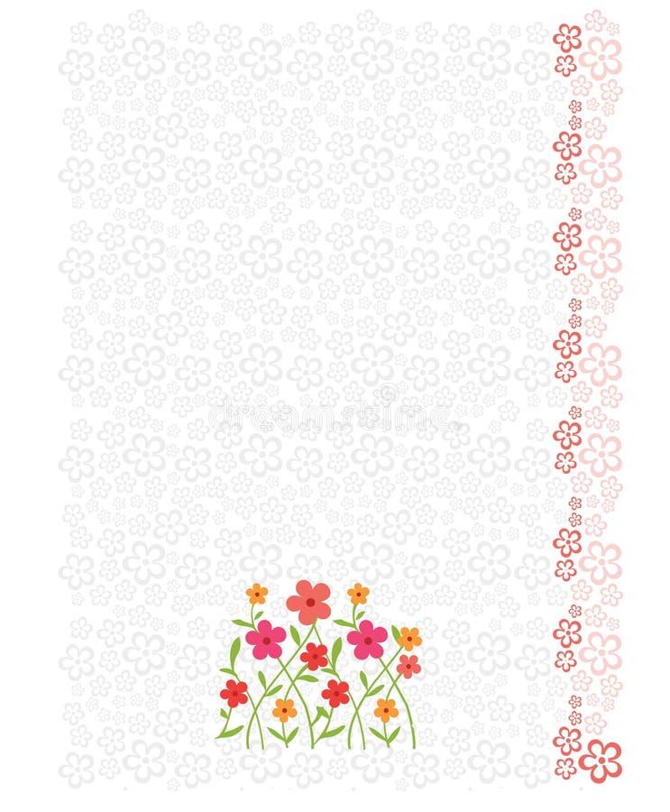 Strato capo della lettera con priorità bassa floreale royalty illustrazione gratis