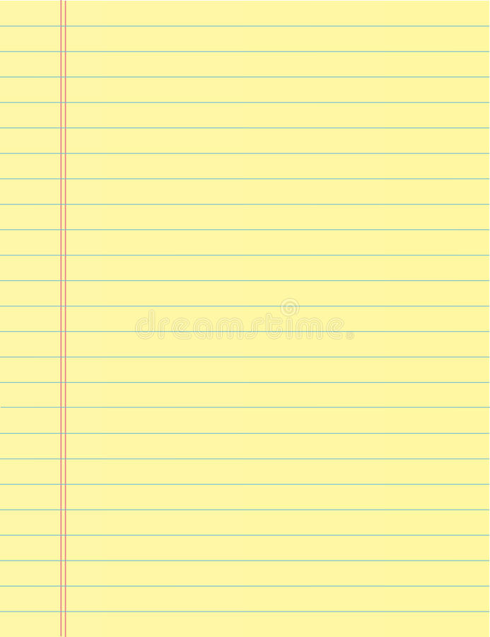 Strato della carta del taccuino della scuola Fondo della pagina del quaderno Contesto allineato del blocco note illustrazione vettoriale
