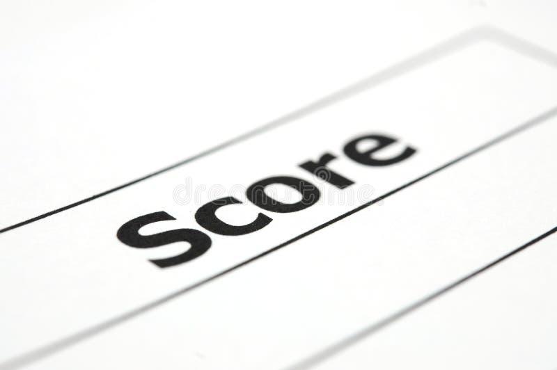 Strato della valutazione del test immagini stock