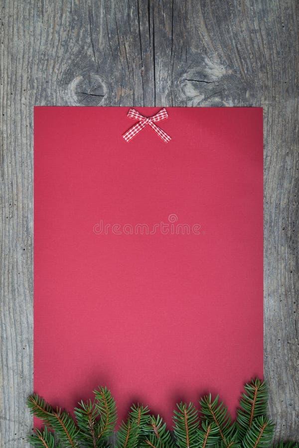 Strato di carta di Natale fotografia stock