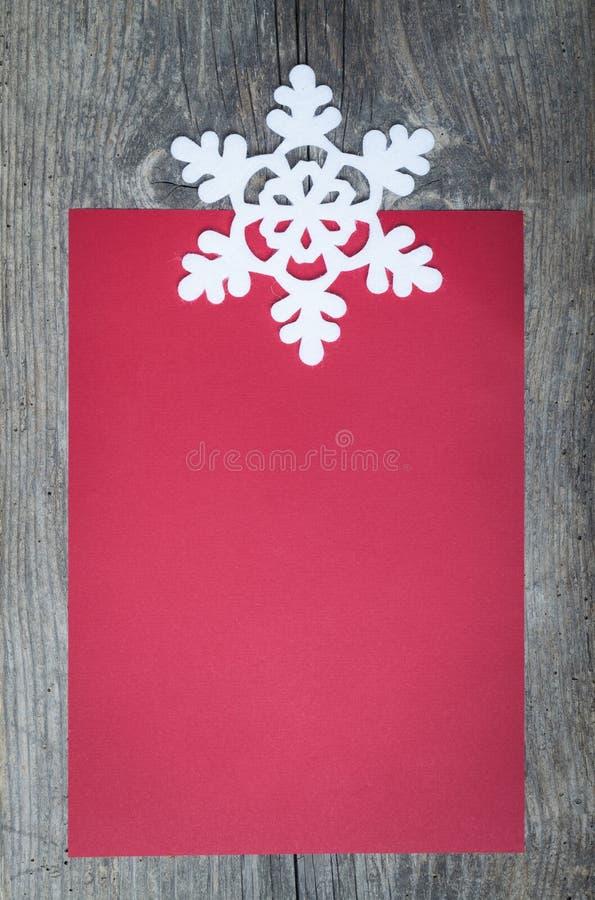 Strato di carta rosso fotografia stock