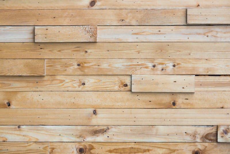 Strato di legno di plancia sistemato come muro immagini stock libere da diritti
