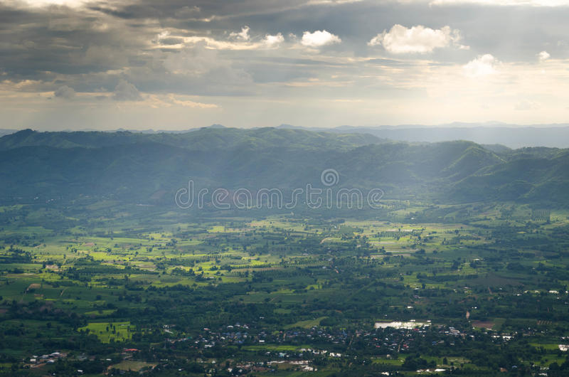 Strato fantastico della montagna fotografia stock libera da diritti