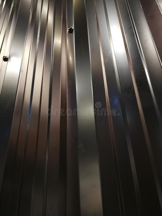 Strato grigio dello zinco come fondo fotografia stock