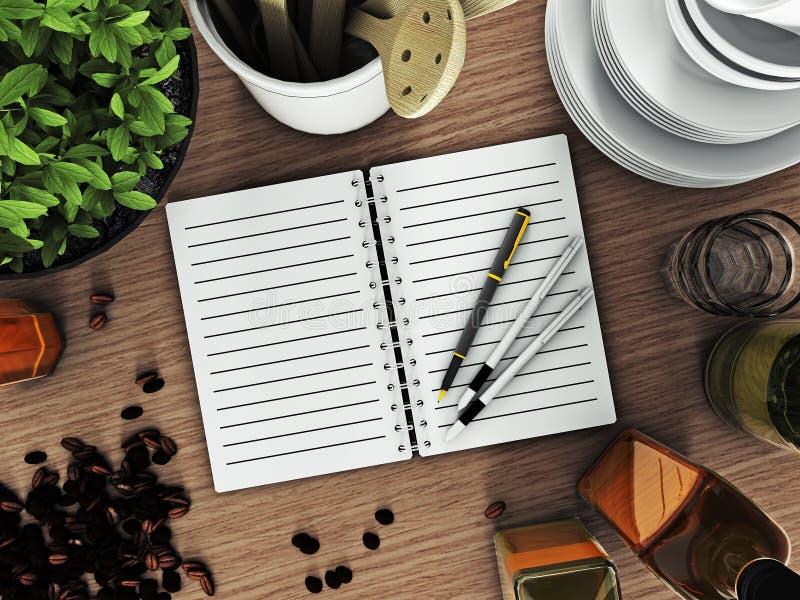 Strato per le annotazioni sulla tavola immagini stock libere da diritti
