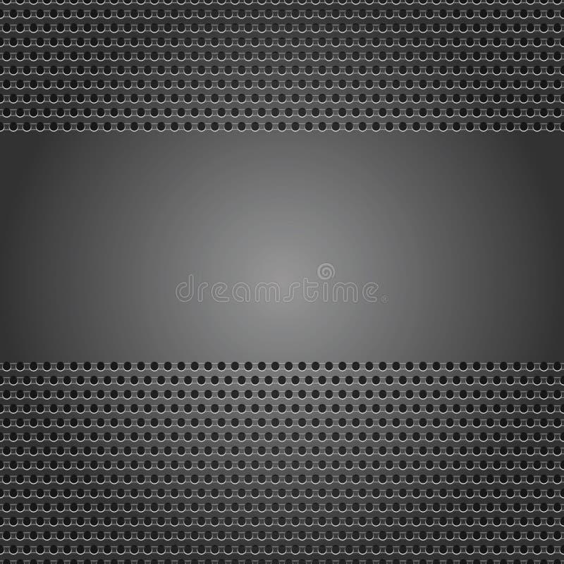 Strato perforato della priorità bassa grigio scuro illustrazione vettoriale