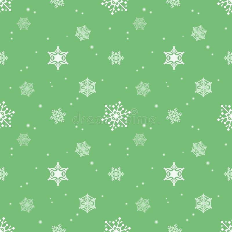 Strato verde pastello della tinta del fondo del fiocco di neve illustrazione di stock