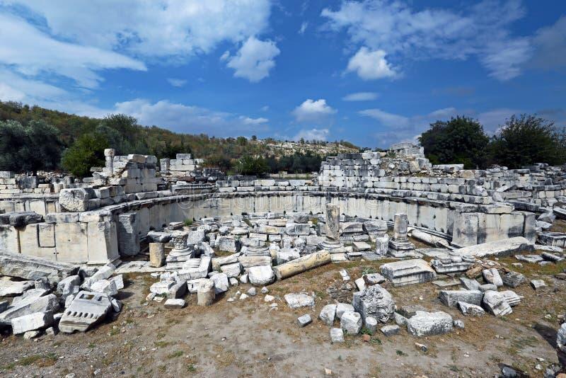 Stratonikeia antic city. In Mugla, Turkey royalty free stock photo