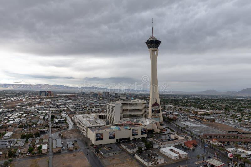 Stratosfärhotell och kasino Las Vegas, Nevada fotografering för bildbyråer