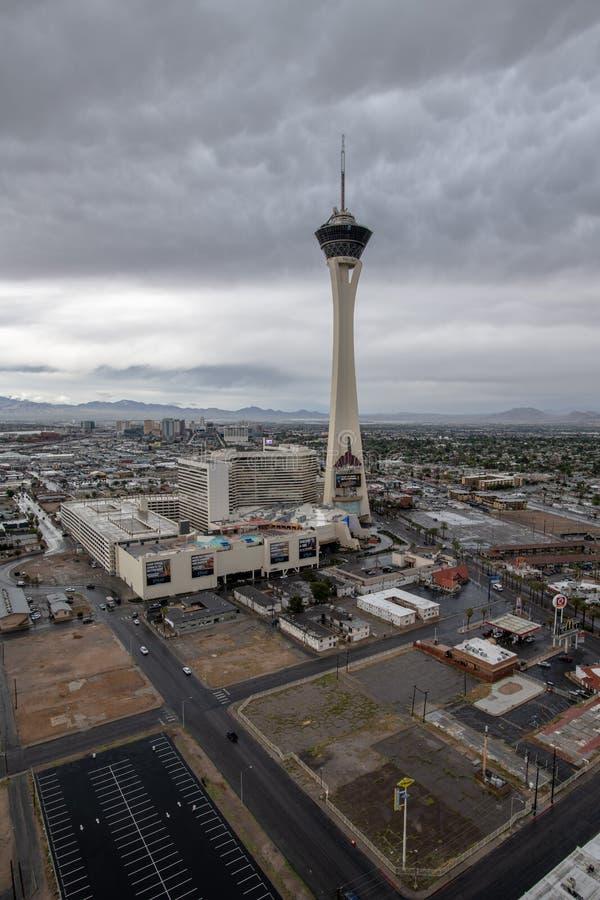 Stratosfärhotell och kasino Las Vegas, Nevada arkivfoton