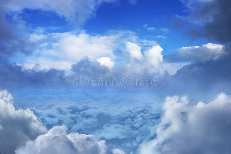 Stratosfera, abstrakcja sceny nad chmurami fotografia royalty free