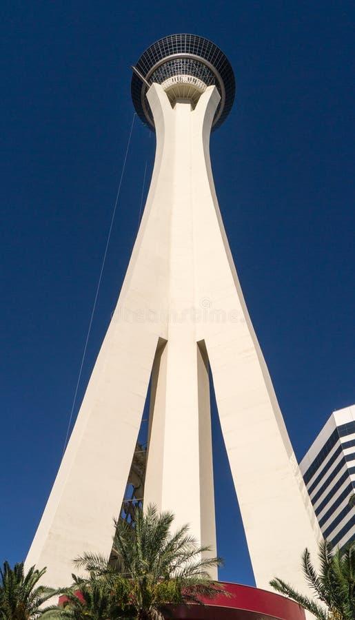 Stratosfera Hotelowy Las Vegas Nevada zdjęcie stock