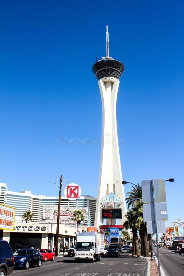 Stratosfera, Las Vegas, NV zdjęcia stock