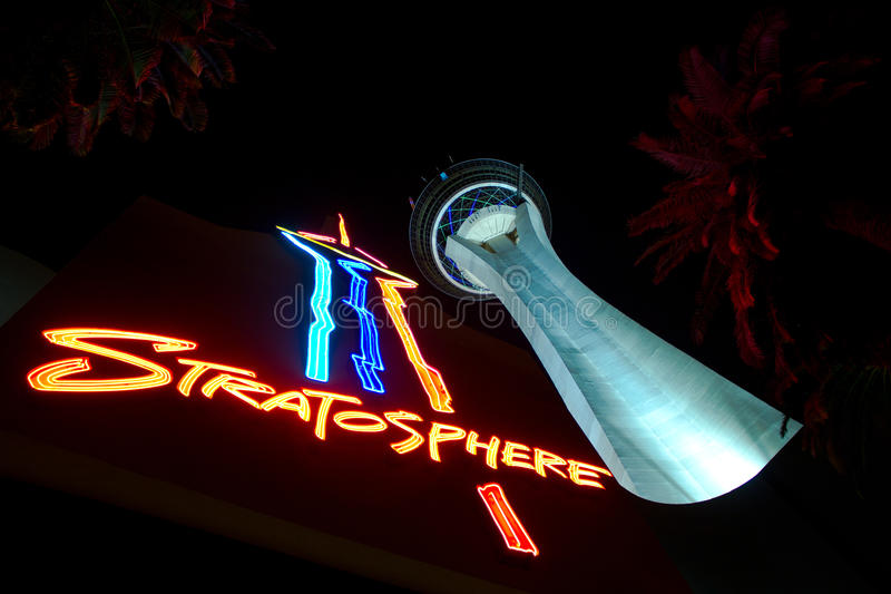 Download Stratosphere Las Vegas editorial photo. Image of colors - 24552601