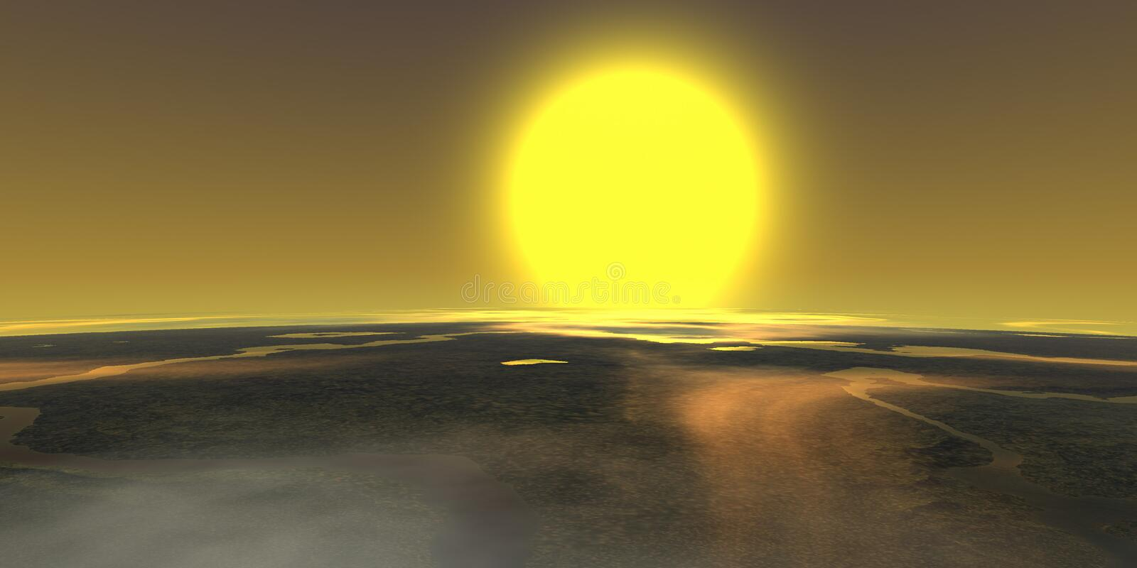 Stratosphere sun royalty free stock images