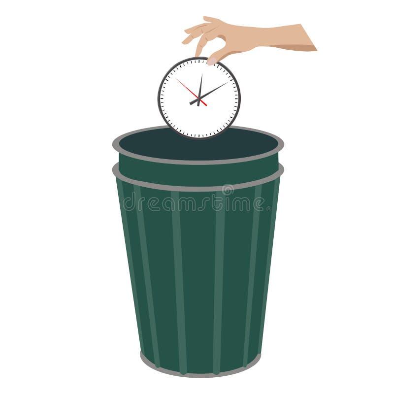 Straty czasu pojęcie ilustracja wektor