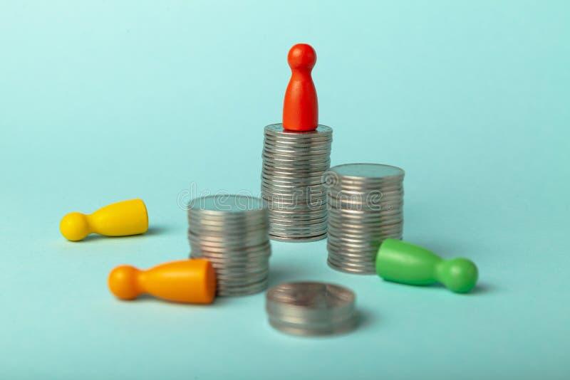 Straty i niepowodzenia w inwestowaniu, inflacja bankowa i bankructwo Kryzys na rynku finansowym zdjęcie stock