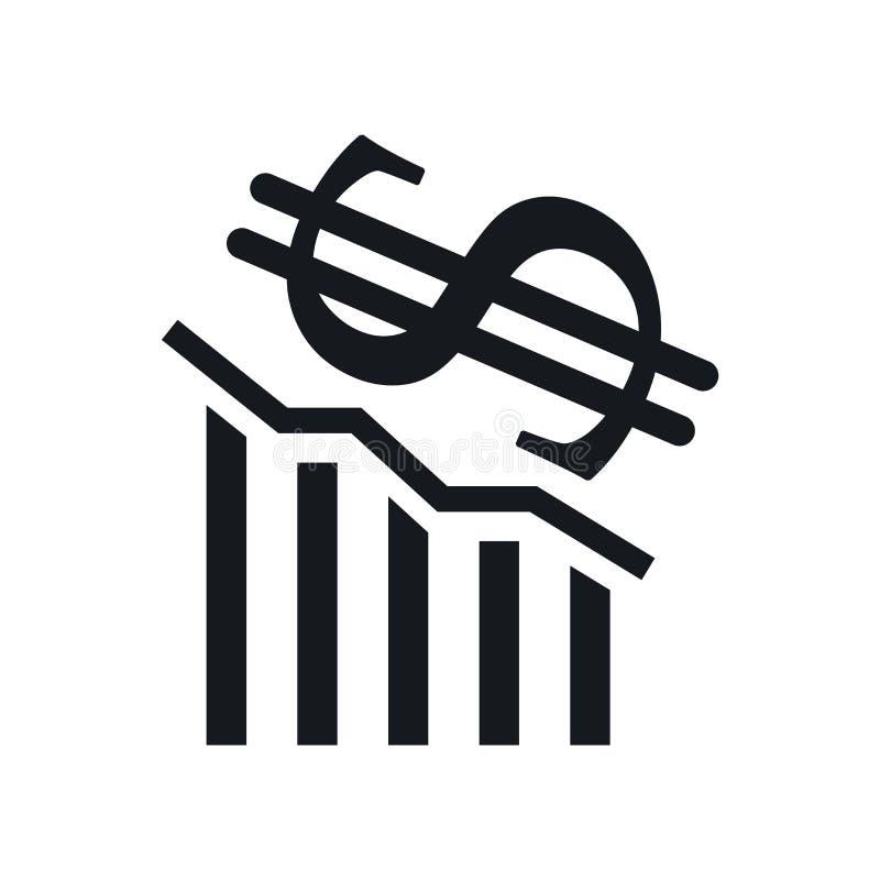 Straty ikony wektoru znak i symbol odizolowywający na białym tle, strata logo pojęcie ilustracja wektor