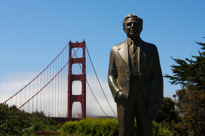 Download Strauss Statue At The Golden Gate Bridge - Chief E Stock Photo - Image: 5717506