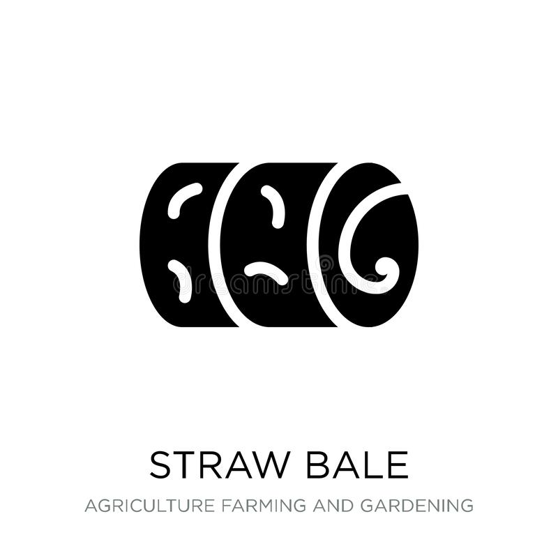 straw bale icon in trendy design style. straw bale icon isolated on white background. straw bale vector icon simple and modern stock illustration