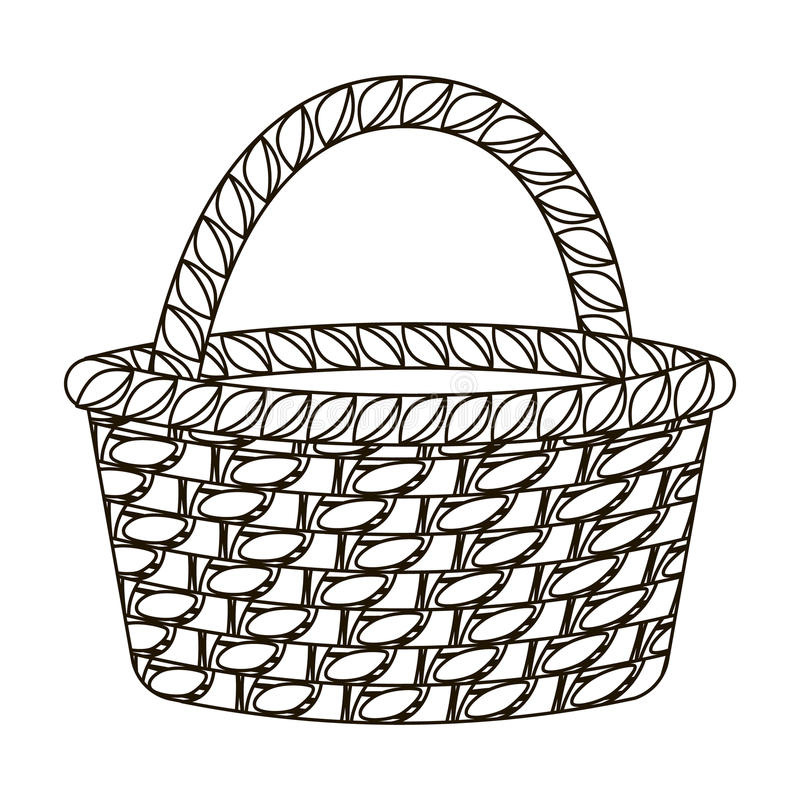 Vegetable Basket Drawing Outline