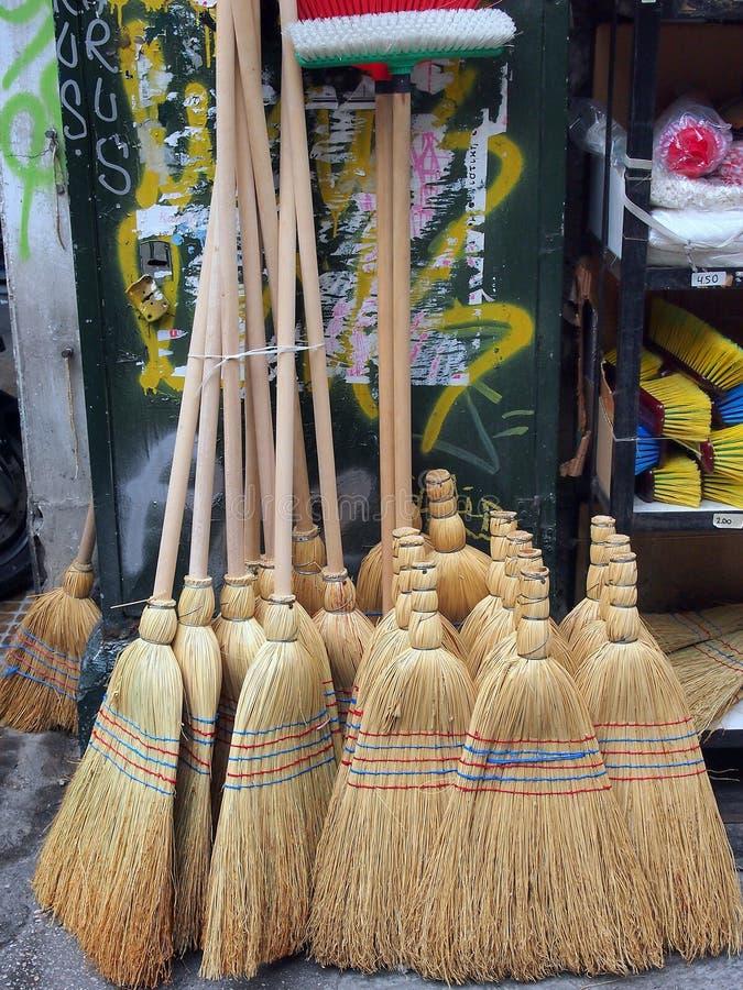 Straw Brooms, Atenas fotos de archivo libres de regalías