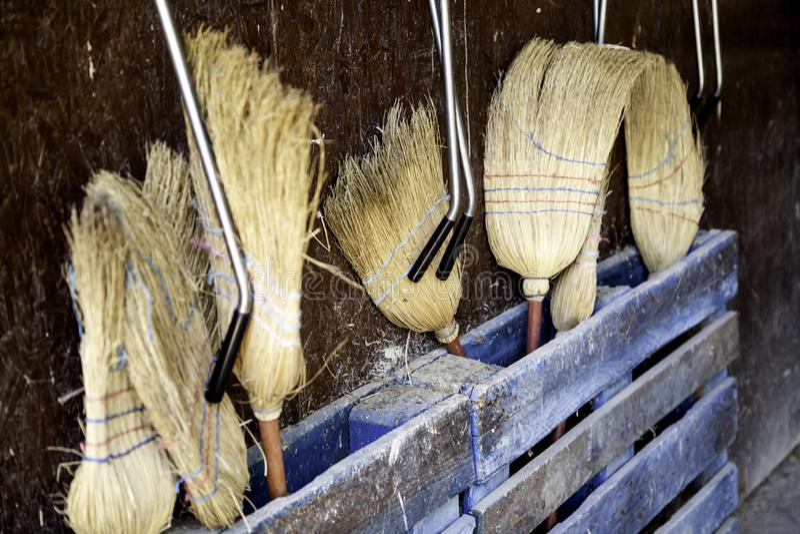 Straw Brooms imagen de archivo