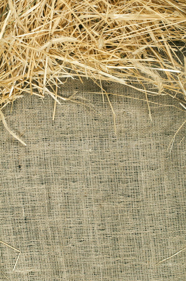 Download Straw On Burlap Royalty Free Stock Photo - Image: 28868785